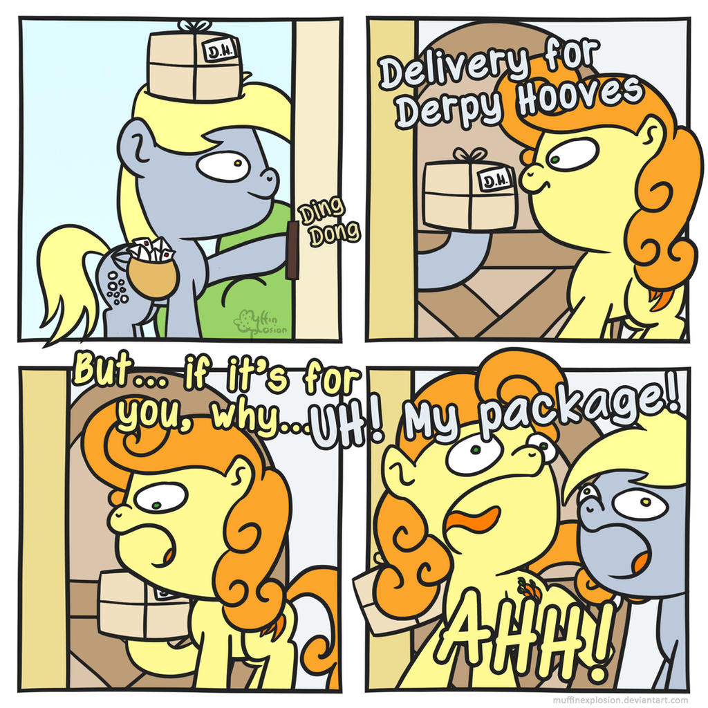 Delivery for Derpy H. by muffinexplosion
