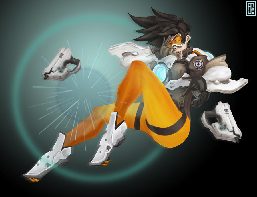 Tracer - Overwatch by Andrew-Gibbons on DeviantArt