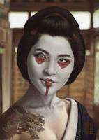Geisha Samurai concept by Andrew-Gibbons