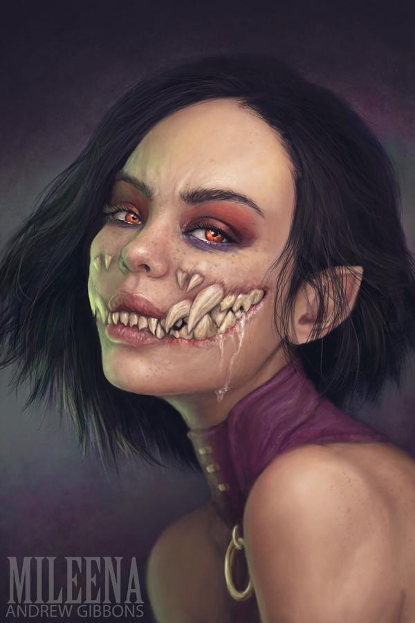 Mileena - MORTAL KOMBAT by Andrew-Gibbons on DeviantArt
