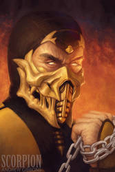 Scorpion - MORTAL KOMBAT by Andrew-Gibbons