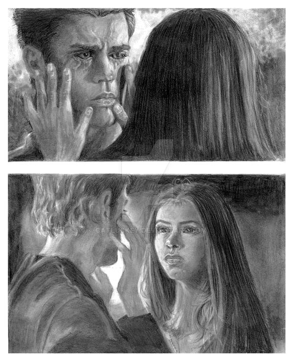 Vampire diaries stefan elena 2 by catluckey on deviantart - Vampire diaries dessin ...