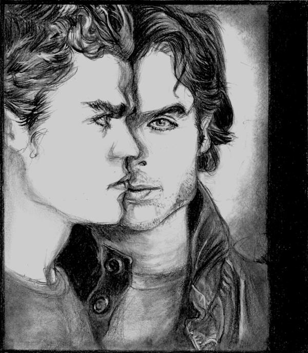 Vampire diaries stefan damon by catluckey on deviantart - Vampire diaries dessin ...