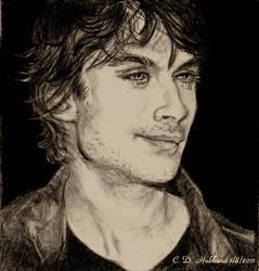 Vampire Diaries Damon Drawing