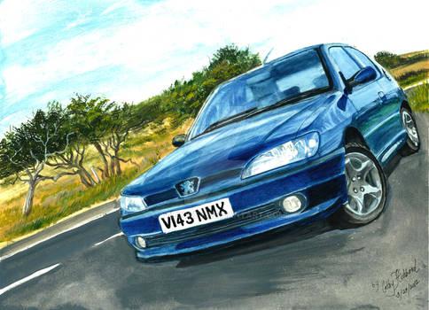 Marky306 Blue Car
