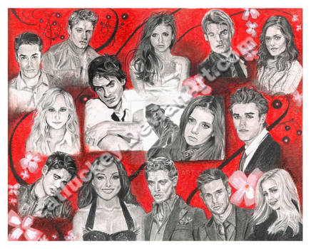 The Vampire Diaries Cast Portrait
