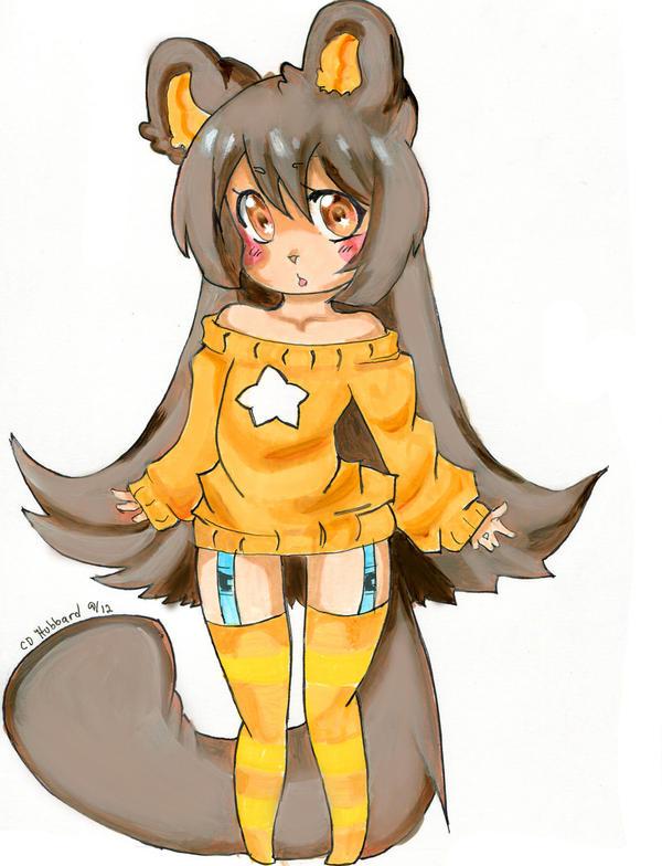 Girl Chibi by Paper-Neko on DeviantArt  |Chibi Anime Neko Girl