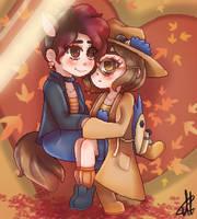 Pixel art - Cute couple by kennythemesht