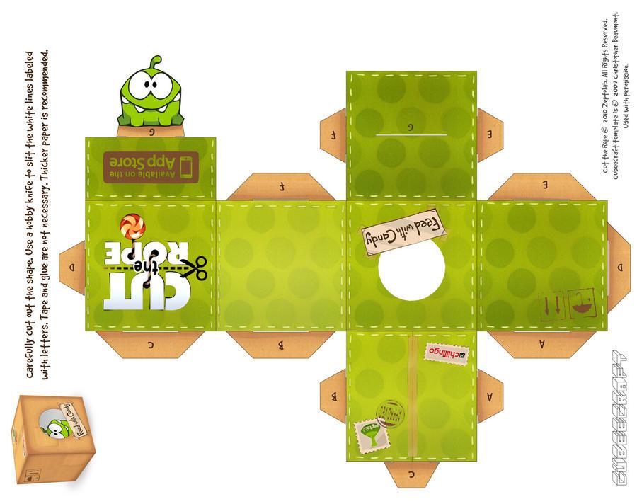 Om-Nom Fabric Box Cubeecraft by viperfan14