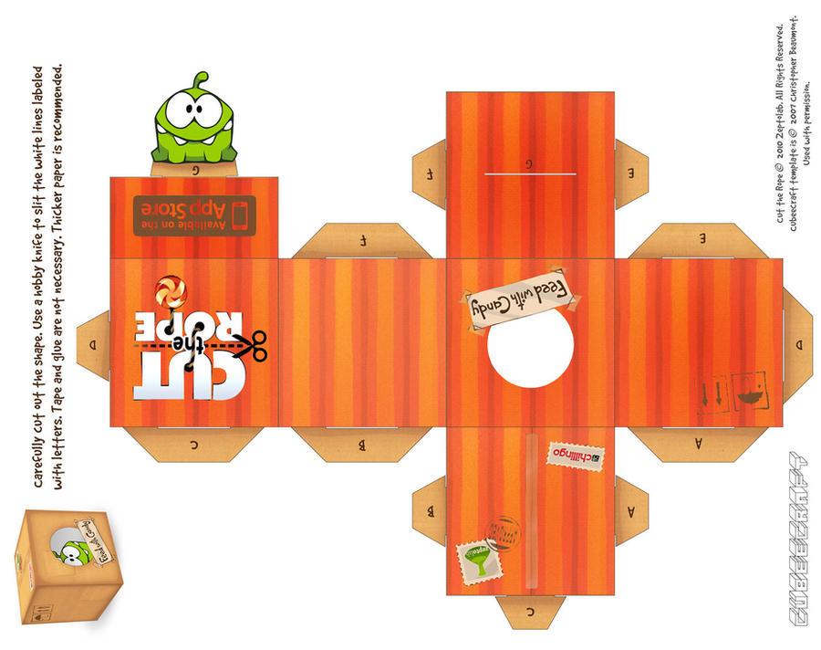 Om-Nom Gift Box Cubeecraft by viperfan14