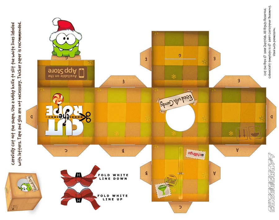 Om-Nom Santa Holiday Box by viperfan14
