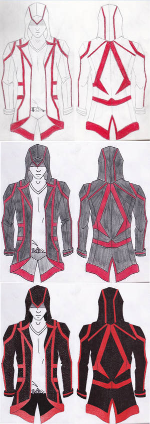 Assassin Jacket Original Design Progression