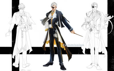 Character design - Nero (Commission) by Glandal