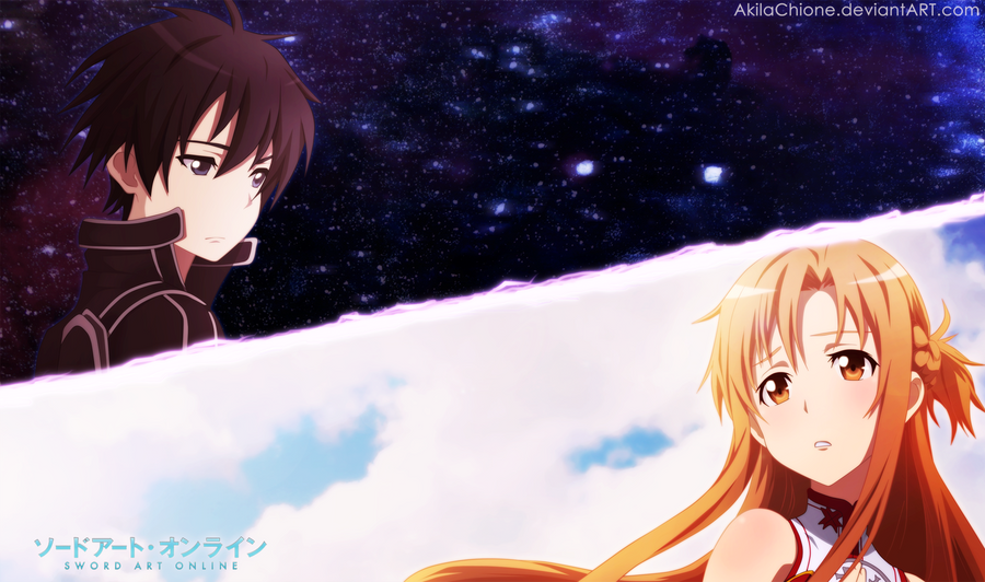Asuna and kirito by akilachione on deviantart