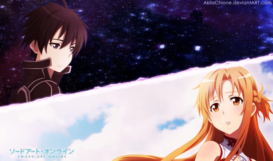 Asuna and Kirito by AkilaChioneKirito And Asuna