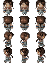 Cadfael overworld sprites by Mole-Chan