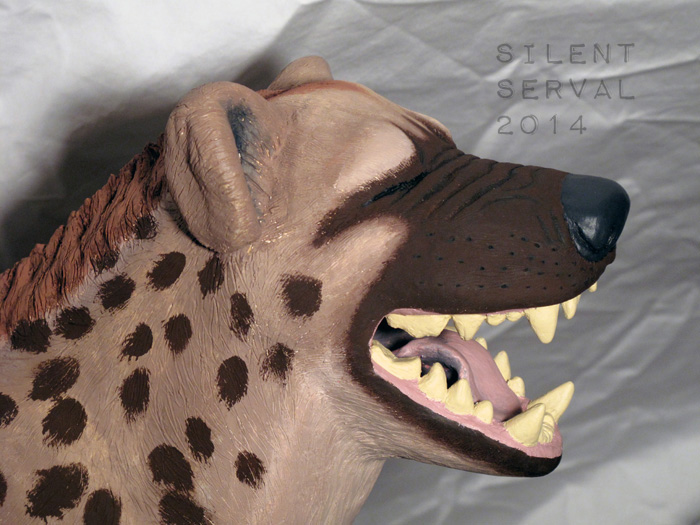 Laughing Hyena closeup by SilentServal