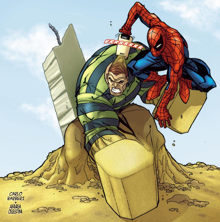 sandman spiderman comic - 981×990