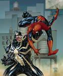 SPIDERMAN vs VENOM by AndreaCelestini