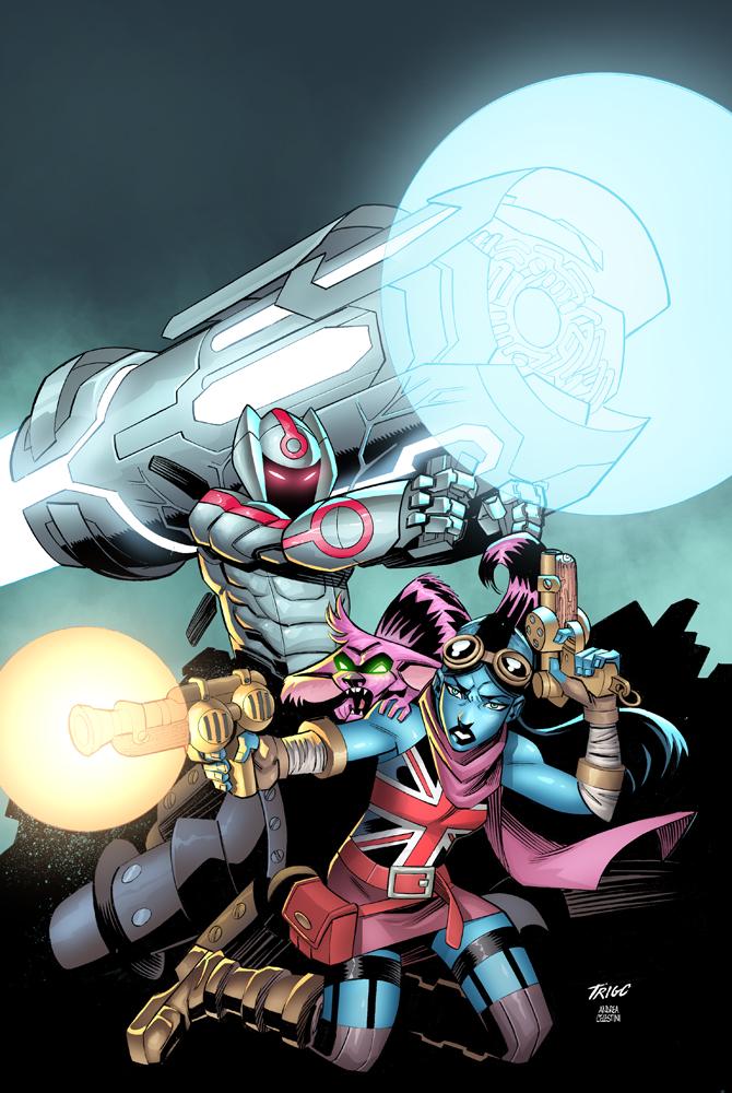 Armor-I/Delilah Blast Cover by AndreaCelestini