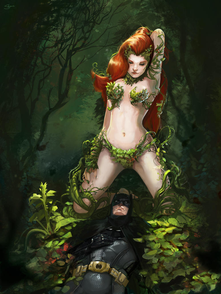 Poison Ivy vs. Batman by ssandulak