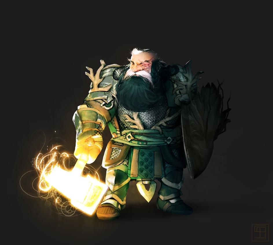 Haval the dwarf paladin by ssandulak
