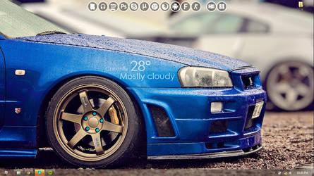 Nisssan Skyline Gt-R Desktop by Vlaar