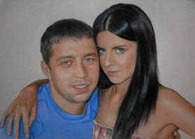 My sister Toma and her husband by Lizapoly