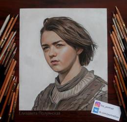 Portrait of Arya Stark .