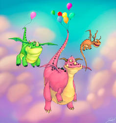 Dragons Birthday by JamarsDesign