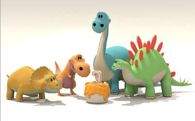 Dinumsaurs 2 by JamarsDesign