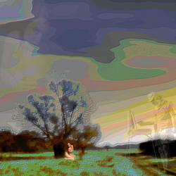 landscape with virtual painter