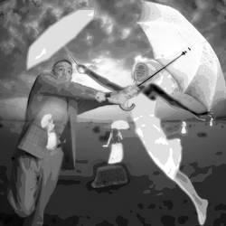 dueling umbrellas