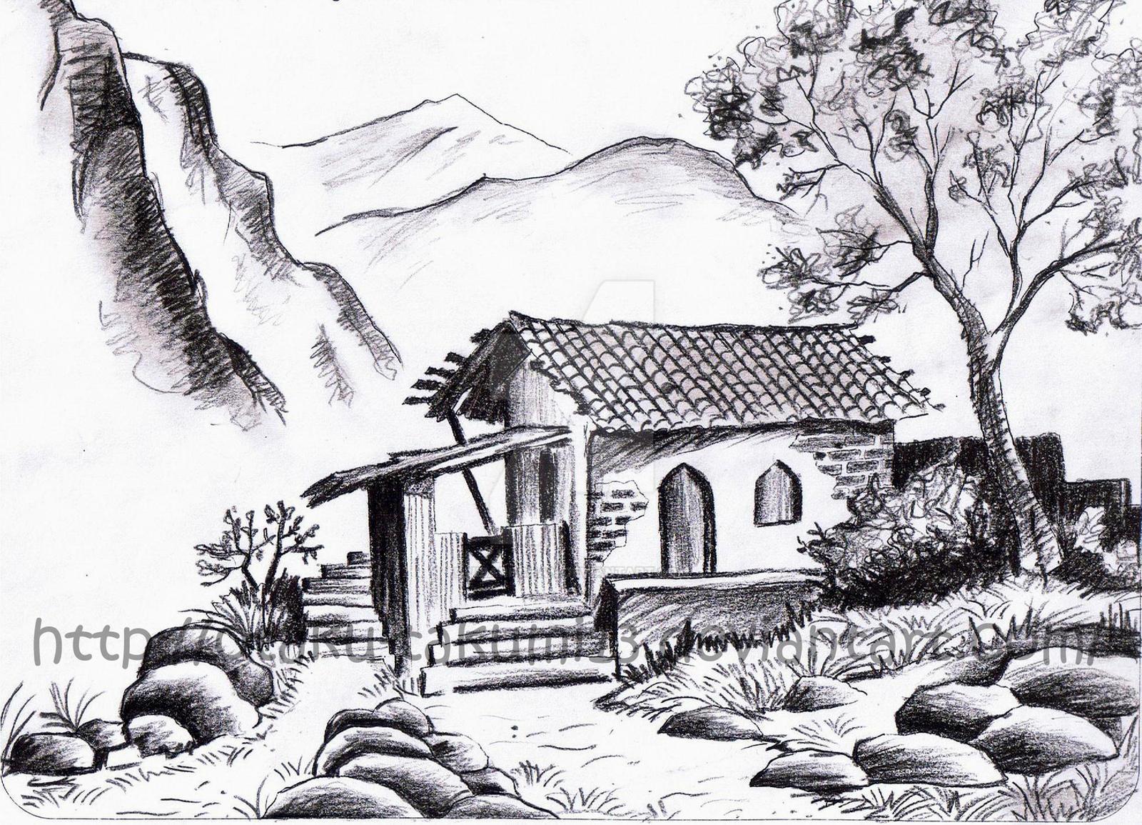 Pencil drawings landscape pencil drawings
