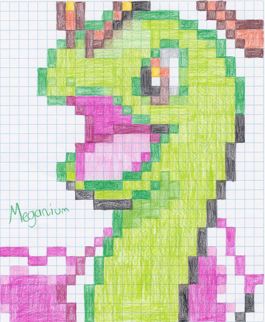 Meganium Pixel by Aqws7
