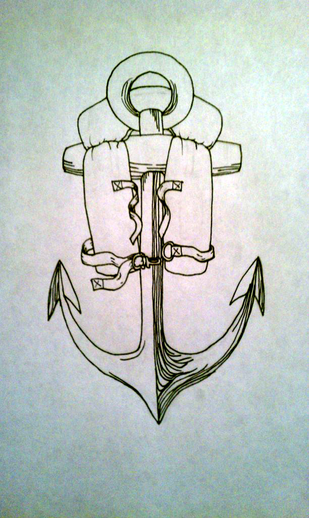 anchor and life jacket tat by leaguesunderthesea on deviantart. Black Bedroom Furniture Sets. Home Design Ideas