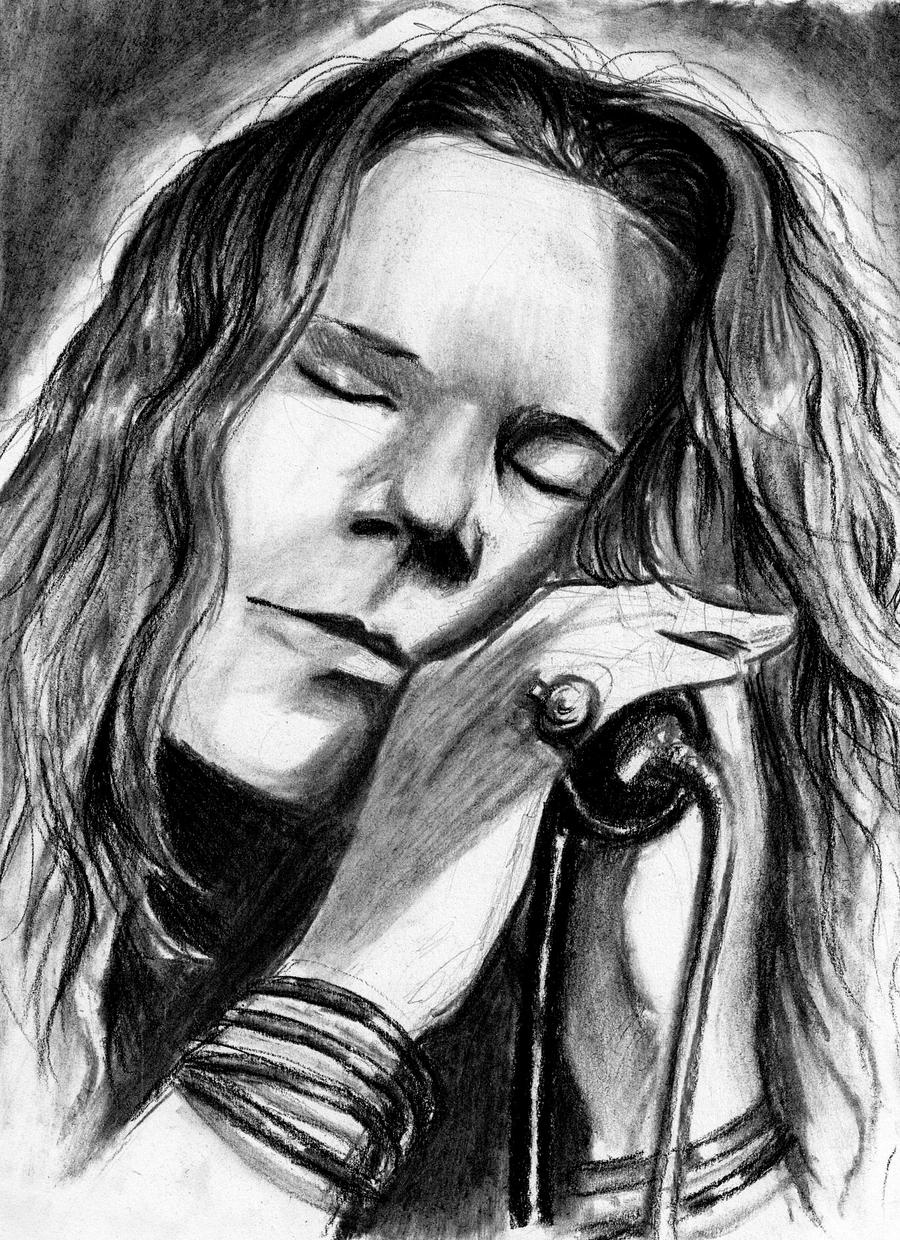 It's just a graphic of Impeccable Janis Joplin Drawing
