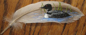 Loon Feather Painting