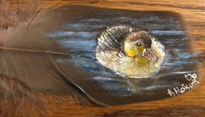 Duckling Feather Painting by SpikedPyro
