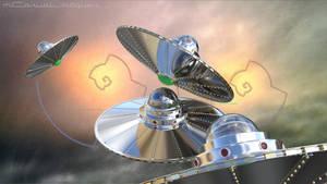 improved flying saucers for staged alien invasion