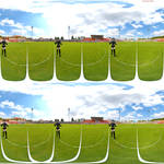 coming up 3D VR 360 Stereographic walk animation