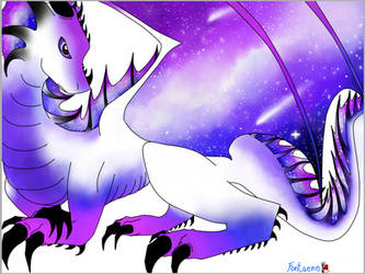 Galaxy Dragon white by Fontaene