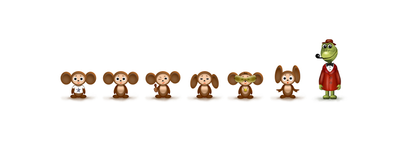 Cheburashka Icons by kgbstyle