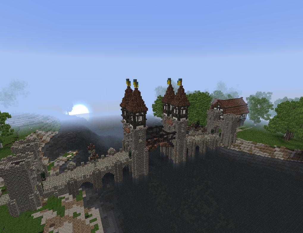 Minecraft Medieval Bascule Bridge To Waldeck By ValdoreWorks