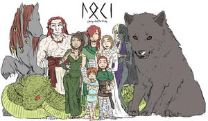 Colouring: LOKI's FAMILY