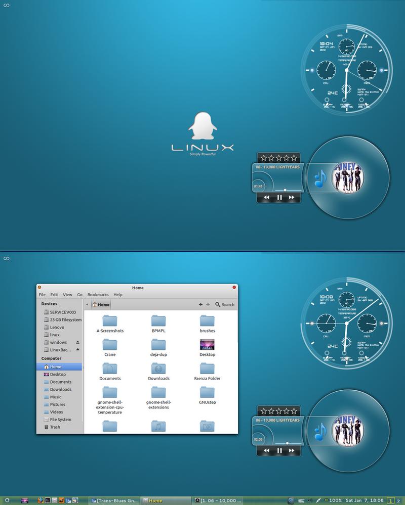 My Minimalistic Linux Desktop by rvc-2011