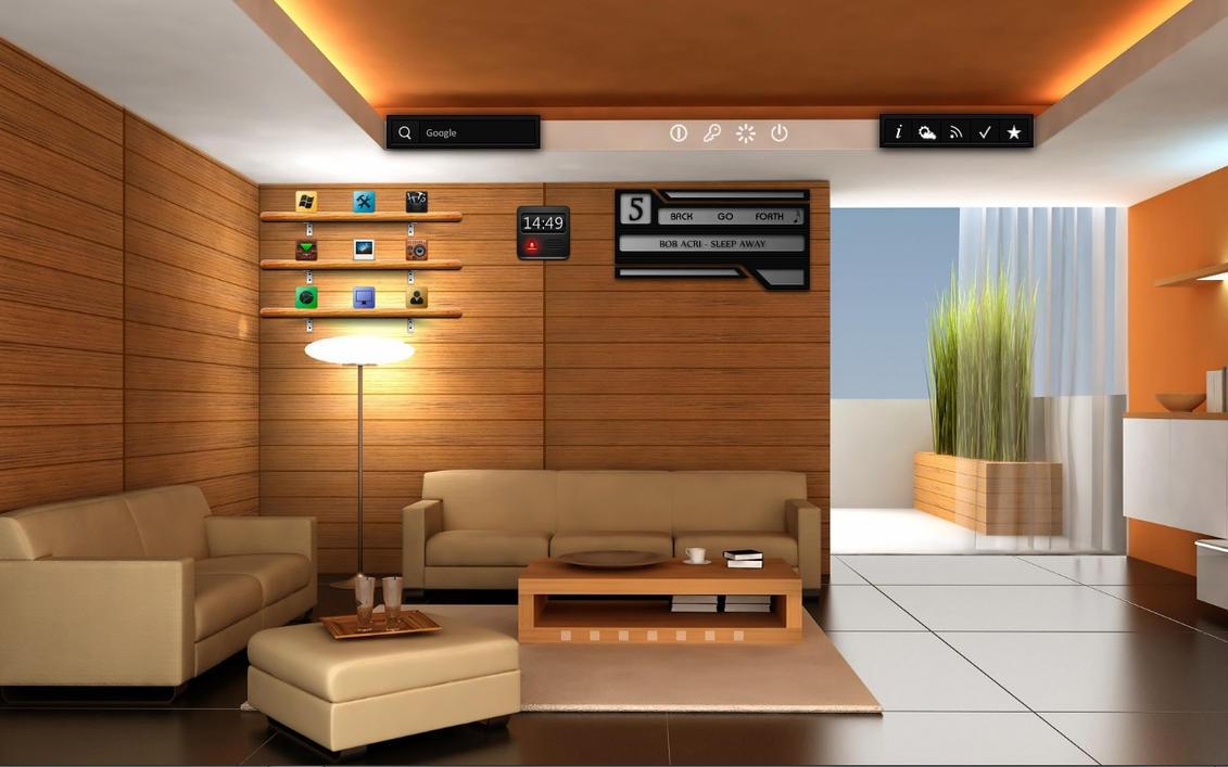 desktop computer living room