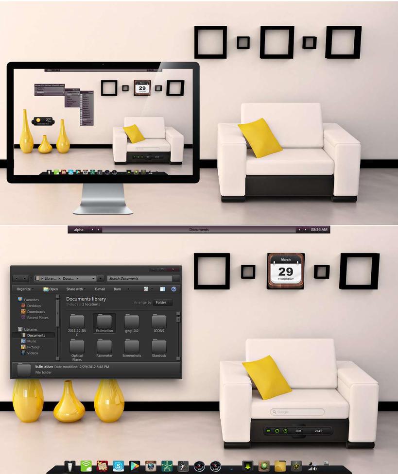 Relax a bit - my current BBLean Desktop by rvc-2011