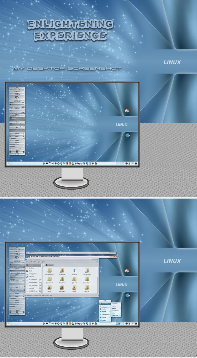 Enlightening Experience - my ENLIGHTENMENT Desktop by rvc-2011