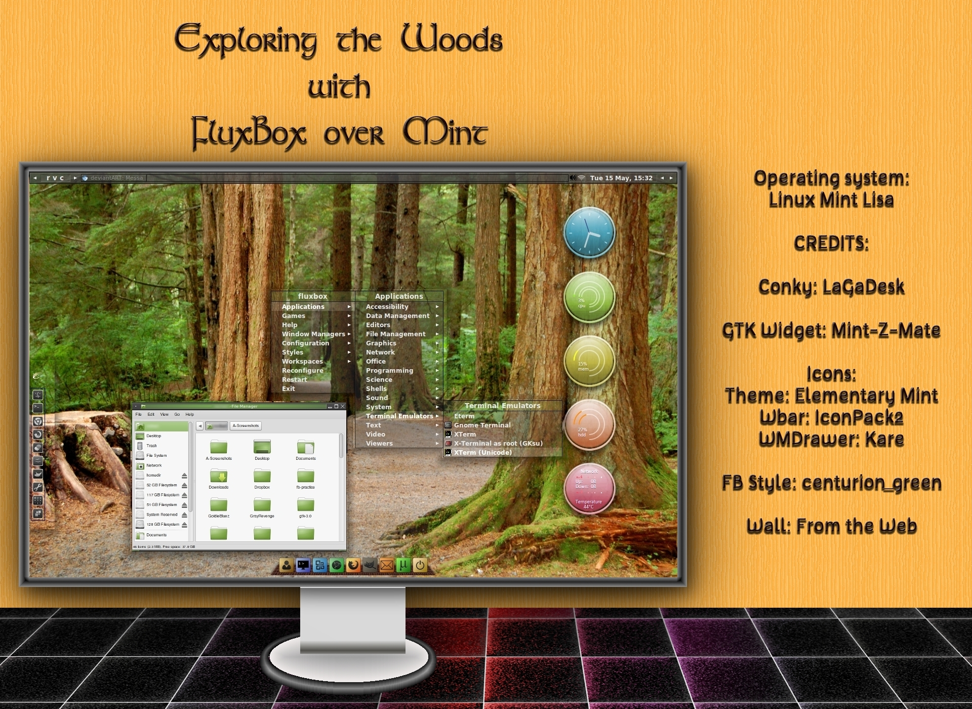 Exploring the Woods with Fluxbox over Mint by rvc-2011
